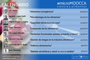 #microMOOCCA - Calendario